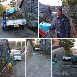 仁戸田地区の道路清掃