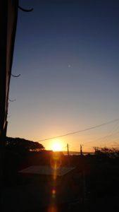 美しい大泊港の夕日です。