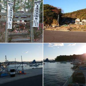 二斗田、大泊の朝、猫神社